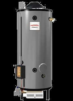 RHEEM G82-156 396873 82 GALLON NATURAL GAS COMMERCIAL WATER HEATER WITH T&P VALVE INSTALLED 2000 ELEVATION
