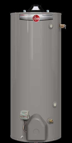 RHEEM PRO+G98-75U-RH 98 GALLON TALL CLASSIC PLUS NATURAL GAS ULTRA LONOX WATER HEATER WITH T&P INSTALLED TO 8500 ELEVATION 8 YEAR TANK/8 YEAR PARTS/2 YEAR LABOR 713/4 HEIGHT 271/2 DIAMETER