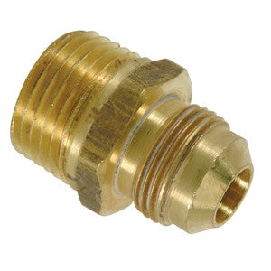 BRASSCRAFT FRC11-6 3/8ODX3/8 FLRXMIP BRASS FINE THREAD MALE ADAPTER WITH 1/8 FIP TAP