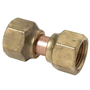 BRASSCRAFT 114FSV-6 3/8OD FIPXFIP FORGED BRASS SWIVEL NUT CONNECTOR