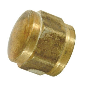 BRASSCRAFT FC-6 3/8OD FLARE BRASS FINE THREAD CAP
