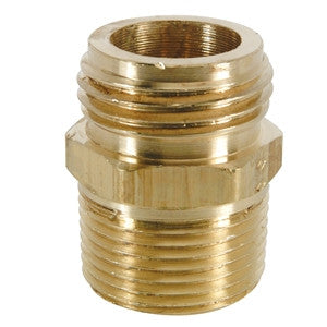 BRASSCRAFT HU22-8-12X 1/2X3/4 MIPXMHT BRASS MALE GARDEN HOSE ADAPTER