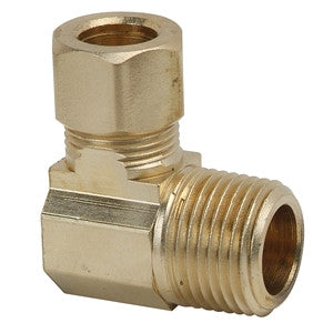 BRASSCRAFT 69-4-4X 1/4ODX1/4 COMPXMIP BRASS 90 ELBOW