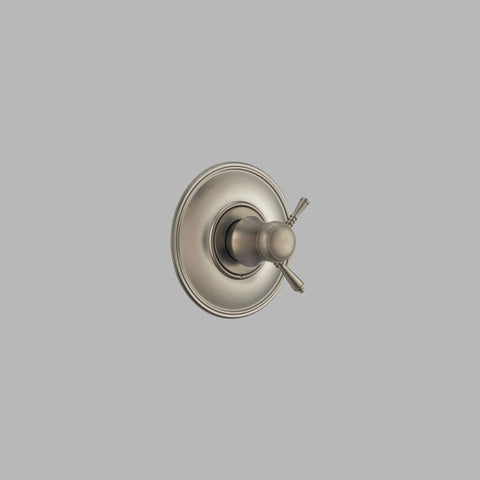 BRIZO T60010-BN BRUSHED NICKEL TRADITIONAL TEMPASSURE 1 HOLE WALL MOUNT THERMOSTATIC SINGLE LEVER HANDLE VALVE TRIM ADA