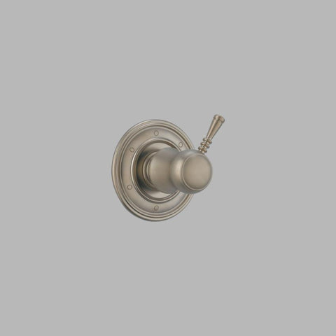 BRIZO T60910-BN BRUSHED NICKEL TRADITIONAL 1 HOLE WALL MOUNT 6 FUNCTION SINGLE LEVER HANDLE DIVERTER TRIM