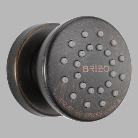 BRIZO 84110-RB VENETIAN BRONZE VESI TOUCH-CLEAN BODY SPRAY TRIM WITH ROUGH