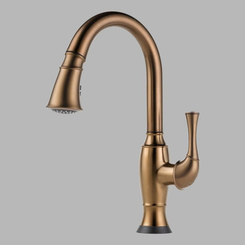 BRIZO 64003LF-BZ BRILLIANCE BRUSHED BRONZE TALO 1 HOLE DECK MOUNT PULL-DOWN ELECTRONIC SINGLE LEVER HANDLE KITCHEN FAUCET WITH SMARTTOUCH TECHNOLOGY AND 2 BUTTON 4 FUNCTION SPRAY WAND WATER EFFICIENT LEAD FREE CA/VT COMPLIANT ADA