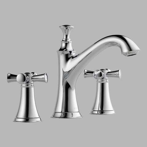 BRIZO 65305LF-PCLHP POLISHED CHROME BALIZA 3 HOLE DECK MOUNT WIDESPREAD LAVATORY FAUCET WITH POP-UP LESS HANDLES WATERSENSE LEAD FREE CA/VT COMPLIANT ADA