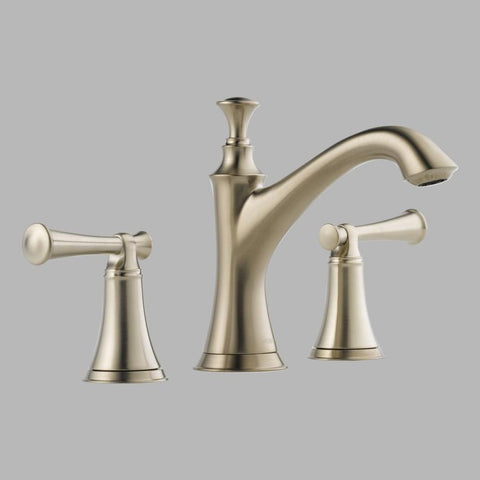 BRIZO 65305LF-BNLHP BRUSHED NICKEL BALIZA 3 HOLE DECK MOUNT WIDESPREAD LAVATORY FAUCET WITH POP-UP LESS HANDLES WATERSENSE LEAD FREE CA/VT COMPLIANT ADA