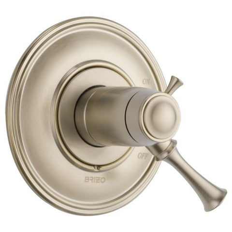 BRIZO T60005-BN BRUSHED NICKEL BALIZA 1 HOLE WALL MOUNT MEDIUM FLOW SINGLE LEVER HANDLE VALVE TRIM ADA