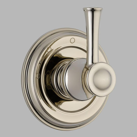 BRIZO T60805-PN POLISHED NICKEL BALIZA 1 HOLE WALL MOUNT 3 FUNCTION SINGLE LEVER HANDLE DIVERTER TRIM
