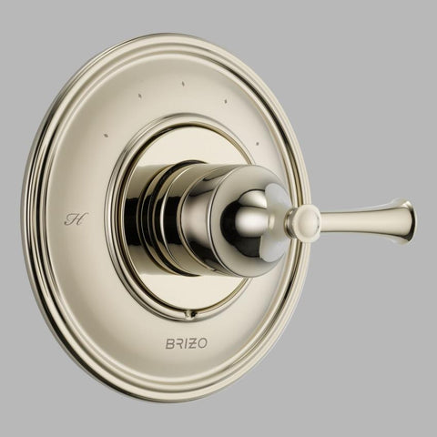 BRIZO T66T005-PN POLISHED NICKEL BALIZA 1 HOLE WALL MOUNT THERMOSTATIC SINGLE LEVER HANDLE VALVE TRIM ADA