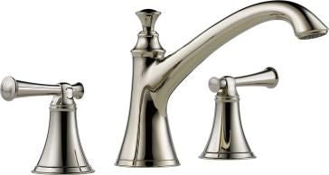 BRIZO T67305-PNLHP POLISHED NICKEL BALIZA 3 HOLE DECK MOUNT BATHTUB TRIM LESS HANDLES ADA