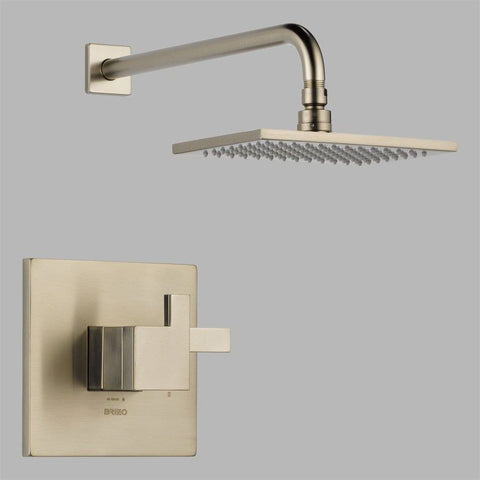 BRIZO T60280-BN BRUSHED NICKEL SIDERNA 2 HOLE WALL MOUNT MEDIUM FLOW SINGLE LEVER HANDLE SHOWER TRIM ADA