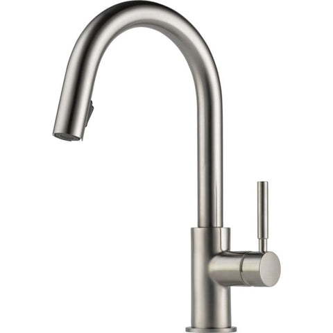 BRIZO 63020LF-SS STAINLESS SOLNA 1 HOLE DECK MOUNT PULL-DOWN SINGLE LEVER HANDLE KITCHEN FAUCET WATER EFFICIENT LEAD FREE CA/VT COMPLIANT ADA