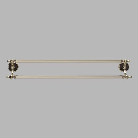 BRIZO 692585-PNCO 24 COCOA BRONZE/ POLISHED NICKEL CHARLOTTE DOUBLE TOWEL BAR