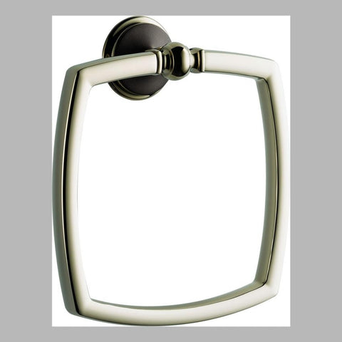 BRIZO 694685-PNCO COCOA BRONZE/ POLISHED NICKEL CHARLOTTE TOWEL RING