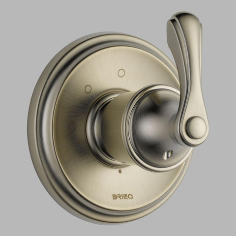 BRIZO T60885-BN BRUSHED NICKEL CHARLOTTE 1 HOLE WALL MOUNT 3 FUNCTION SINGLE LEVER HANDLE DIVERTER TRIM ADA