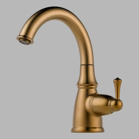 BRIZO 61310LF-BZ BRILLIANCE BRUSHED BRONZE TRADITIONAL 1 HOLE DECK MOUNT SINGLE LEVER HANDLE BEVERAGE FAUCET LESS SIDESPRAY LEAD FREE ADA