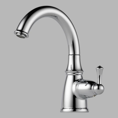 BRIZO 61310LF-PC POLISHED CHROME TRADITIONAL 1 HOLE DECK MOUNT SINGLE LEVER HANDLE BEVERAGE FAUCET LESS SIDESPRAY LEAD FREE ADA