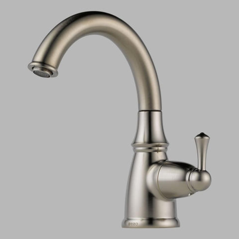 BRIZO 61310LF-SS STAINLESS TRADITIONAL 1 HOLE DECK MOUNT SINGLE LEVER HANDLE BEVERAGE FAUCET LESS SIDESPRAY LEAD FREE ADA