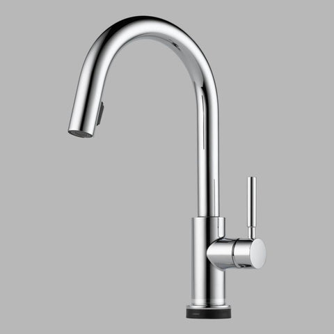 BRIZO 64020LF-PC POLISHED CHROME SOLNA 1 HOLE DECK MOUNT PULL-DOWN SINGLE LEVER HANDLE KITCHEN FAUCET WITH SMARTTOUCH TECHNOLOGY WATER EFFICIENT LEAD FREE CA/VT COMPLIANT ADA