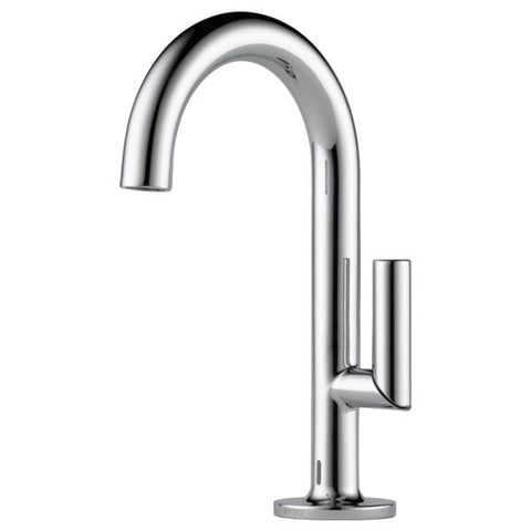 BRIZO 65675LF-PC POLISHED CHROME ODIN 1 HOLE DECK MOUNT SINGLE LEVER HANDLE LAVATORY FAUCET WITH POP-UP AND SMARTTOUCH PLUS WATERSENSE LEAD FREE CA/ VT COMPLIANT ADA