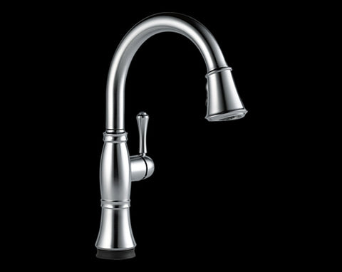 DELTA 9197T-AR-DST ARCTIC STAINLESS CASSIDY 1 HOLE DECK MOUNT SINGLE LEVER HANDLE KITCHEN FAUCET WITH PULL-DOWN