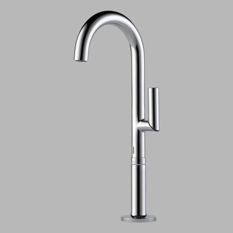 BRIZO 65475LF-PC POLISHED CHROME ODIN 1 HOLE DECK MOUNT SINGLE LEVER HANDLE LAVATORY FAUCET LESS POP-UP WATERSENSE LEAD FREE CA/ VT COMPLIANT ADA