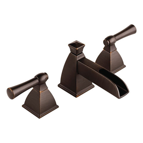 BRIZO 65345LF-RB VENETIAN BRONZE VESI3 HOLE DECK MOUNT WIDESPREAD 2 LEVER HANDLE LAVATORY FAUCET WITH POP-UP WATERSENSE LEAD FREE CA/VT COMPLIANT ADA