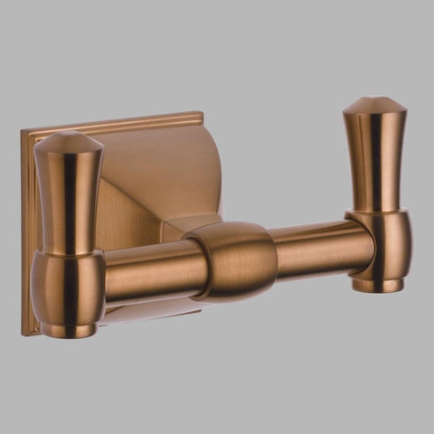 BRIZO 693540-BZ BRILLIANCE BRUSHED BRONZE VESI DOUBLE ROBE HOOK
