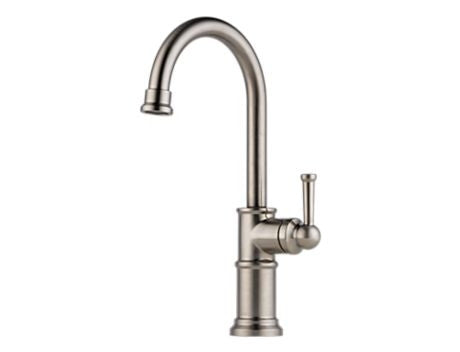 BRIZO 61025LF-SS STAINLESS ARTESSO 1 HOLE DECK MOUNT SINGLE LEVER HANDLE BAR/ PREP FAUCET LEAD FREE