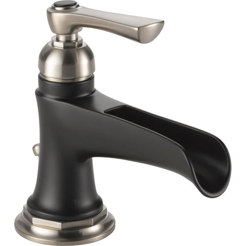 BRIZO 65061LF-NKBL SINGLE LEVER HANDLE LUXE NICKEL/MATTE BLACK ROOK 1 HOLE LAVATORY FAUCET WITH POP-UP DRAIN