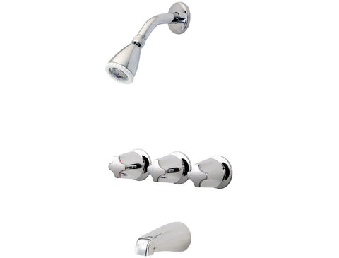 *X* PFISTER 01-321 3 HANDLE TUB/SHOWER CHROME