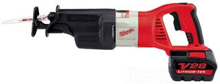 MILWAUKEE TOOL 0719-22 M28 LI+ BATTERY OPERATED RECIPROCATING SAW WITH 2 BATTERIES