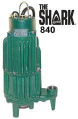 ZOELLER 840-0004 2HP 230V 1PHASE SHARK CAST IRON GRINDER PUMP WITH REVERSING CONTROLS CCSAUS UL CERTIFIED