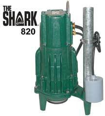 ZOELLER 820-0011 230V 1PHASE SHARK CAST IRON GRINDER PUMP WITH INTEGRAL CONTROLS CCSAUS UL CERTIFIED