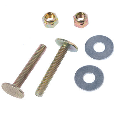 MAINLINE ML15215 1/4X21/4 BRASS PLATED CLOSET BOLTS WITH DOUBLE NUT & WASHERS