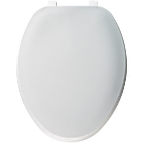 CHURCH 170TL-000 WHITE PLASTIC ELONGATED CLOSED FRONT TOILET SEAT WITH COVER