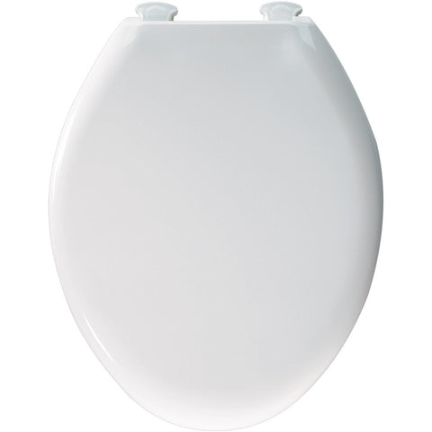 CHURCH 380SLOW-346 BISCUIT EASY-2 PLASTIC ELONGATED CLOSED FRONT TOILET SEAT WITH COVER