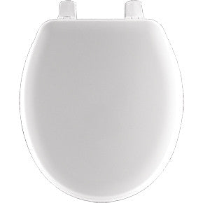 CHURCH BB540-000 WHITE WOOD CLOSED FRONT TOILET SEAT WITH COVER