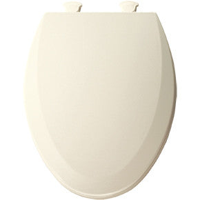 BEMIS 1500EC-346 BISCUIT EZ-CLEAN WOOD ELONGATED CLOSED FRONT TOILET SEAT WITH COVER