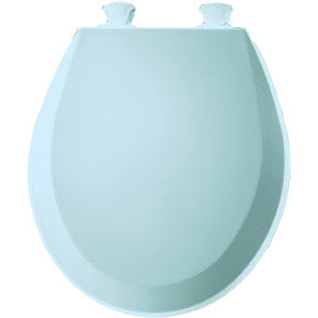 BEMIS 500EC-464 DRESDEN BLUE EZ-CLEAN WOOD ROUND CLOSED FRONT TOILET SEAT WITH COVER