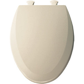 BEMIS 1500EC-146 ALMOND EZ-CLEAN WOOD ELONGATED CLOSED FRONT TOILET SEAT WITH COVER