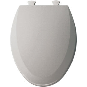 BEMIS 1500EC-162 SILVER EZ-CLEAN WOOD ELONGATED CLOSED FRONT TOILET SEAT WITH COVER