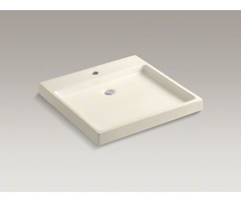 KOHLER K-2314-1-47 ALMOND FIRECLAY PURIST WADING POOL 24X231/2 1 HOLE COUNTERTOP OR WALL MOUNT LAVATORY BASIN