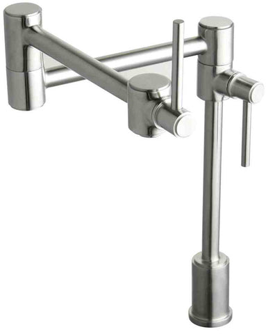 ELKAY LK7767PSS POLISHED STAINLESS STEEL ELLA 1 HOLE DECK MOUNT 2 LEVER HANDLE POT FILLER