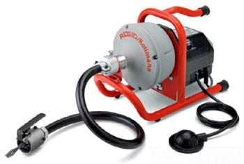RIDGID 71722 115V DUAL FEED SINK MACHINE DRAIN CLEANER WITH POWERFEED C13-ICSB CABLE AND GUIDE HOSE