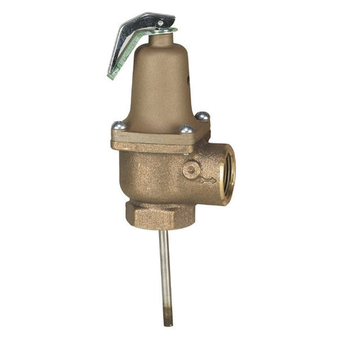 WATTS 140X-6-150210 0259705 1 TXT BRONZE 150-210PSI AUTOMATIC RESEATING TEMP AND PRESSURE RELIEF VALVE ASME