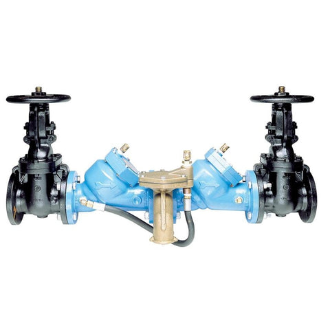 WATTS 909-NRS 0387164 3 FLG EPOXY COATED CAST IRON REDUCED PRESSURE ZONE ASSEMBLY WITH NON-RISING STEM SHUTOFF VALVES